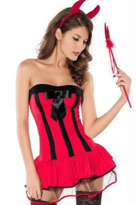 Adult Devilish Hottie Halloween Costume red black