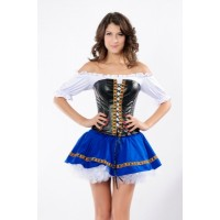 Beer Maiden Baby Costume blue white