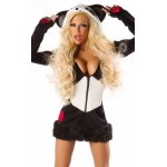 Deluxe Panda Bear Costume black white
