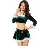 Elf Top with Marabou green white
