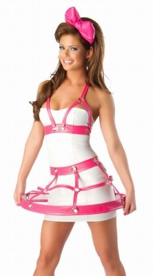 Josie Loves Pink and White Cage Set pink white
