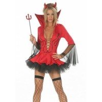 Lil Devil Costume red black