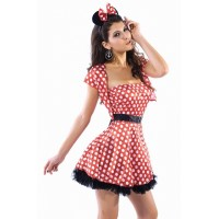 Naughty Mouse Costume red