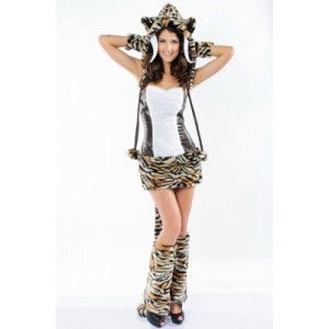 Sabertooth Sexy Complete Costume brown