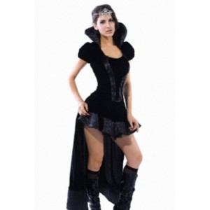 Sexy wicked Queen Costume black