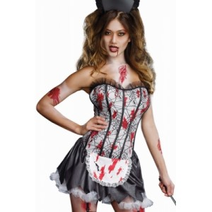 Zombie French Maid black red