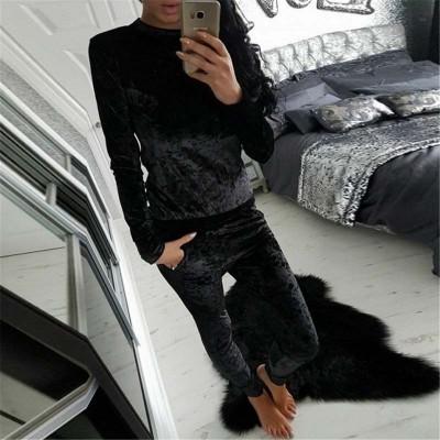 Autumn Velvet Tracksuit Women Sets Winter 2 Piece Velour Set Women Sweat Suit Plus Size Sweatshirt Two Piece