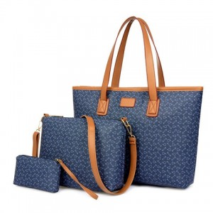 Fashion Women's Shoulder Bag With PU Leather and Anchor Design coffee red blue