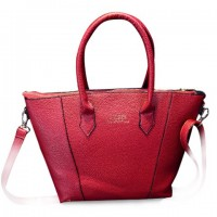 Fashion Women's Tote Bag With PU Leather and Letter Print Design black blue white red