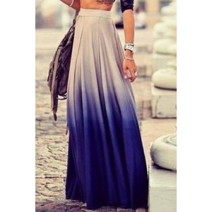 Stylish Women's Ombre Skirt blue