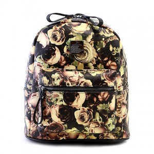 Fashion Women's Satchel With Zipper and Floral Print Design backpack