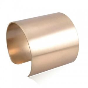 Fashionable Solid Color Cuff Bracelet For Women bronze
