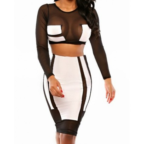 494748d83a5c9c Product Code: Sexy Round Neck Long Sleeve See-Through Crop Availability: In  Stock. Price: $39.99