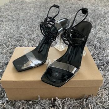 Summer High 10.5CM Heels Women Pumps Ankle Cross Strap Sandals Shoes Woman Ladies Peep Toe High Heels Dress Party Shoes Woman
