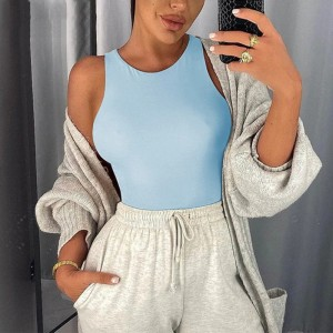 O Neck Sleeveless Sexy Bodysuit Women Off Shoulder Body Top Streetwear White Bodysuits suit clothes para catsuit clothing size