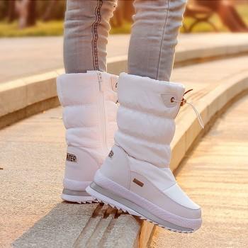 2019 Winter Platform Women Boots Children Rubber anti-slip Snow Boots Shoes for wome Waterproof Warm Winter Shoes Botas