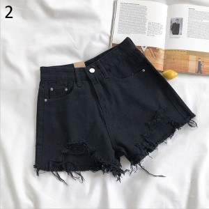 Loose ladies plus size jeans high waist light colored denim shorts retro street fashion demin pant ladies 2021 summer new jeans