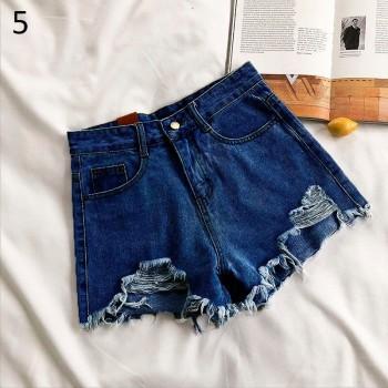 Loose ladies plus size jeans high waist light colored denim shorts retro street fashion demin pant ladies 2021 summer new jeans