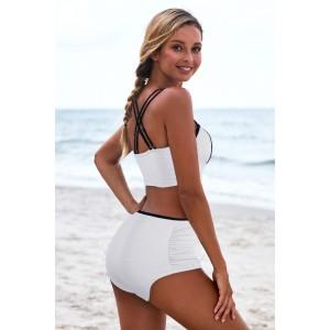 White Push Up Full Cup High Waist Bikini