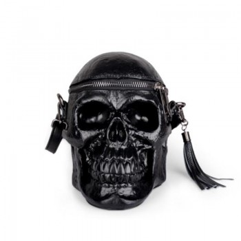 HIGHREAL Originality Women Bag Funny Skeleton Head Black handbad Men Single Package Fashion Designer Satchel Package Skull Bags