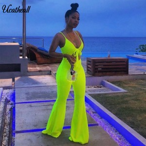 Women Elegant Spaghetti Strap V-Neck Suit Set Cami Top+ Pants Set Summer Fashion High Waisted Matching Sets Casual Women