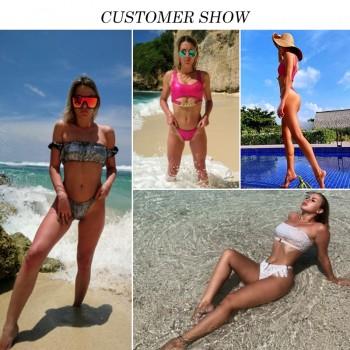 Silver snake bikini push up Sexy swimsuit women Neon swimwear 2020 female New chain bathing suit Brazilian bathers biquini Mujer