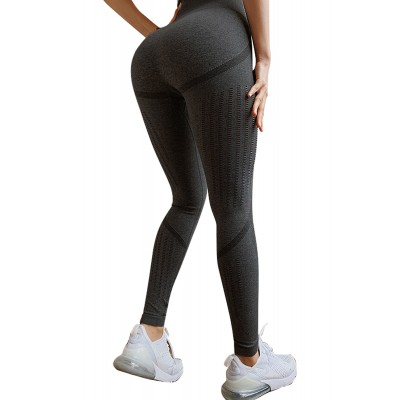 Black Seamless Sport Legging Pink