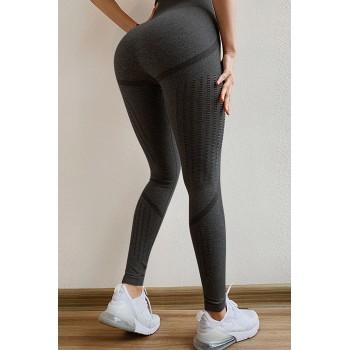 Black Seamless Sport Legging Pink