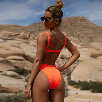 NewAsia Underwire Swimsuit Push Up Bikini Set Hight Waist Ribbed Bathing Suit Women 2019 Summer Swimming Suit For Women Biquini