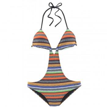 2020 girls one pieces surfing rashguard swimsuit women swimwear swimming wire free zipper deep v long sleeves print black white