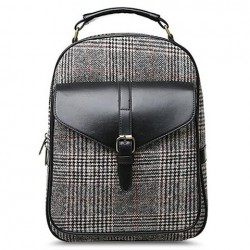 Casual Women's Satchel With Buckle and Splice Design