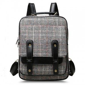 Casual Women's Satchel With Splice and Rivets Design