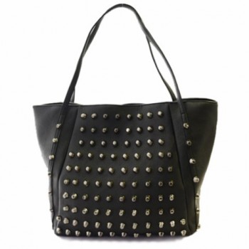 Fashionable Women's Shoulder Bag With Solid Color and Rivets Design red black blue