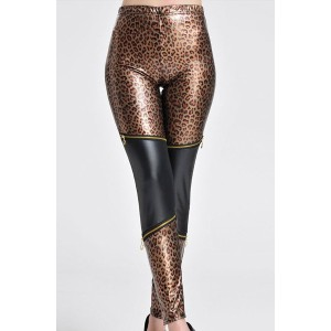 Hot Women's High-Waisted Leopard Print Leggings