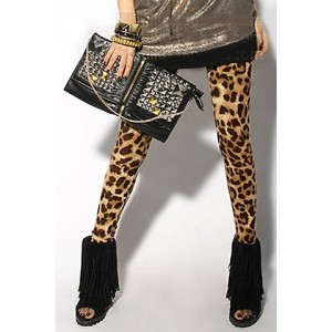 Leopard Printed Stylish Stretchy Leggings For Women