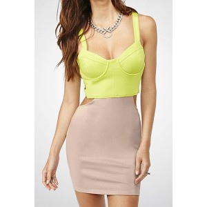 Sexy Women's Hollow Out Sweetheart Neckline Bodycon Bandage Dress