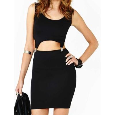 Sexy Women's Scoop Neck Black Dancewear Suit