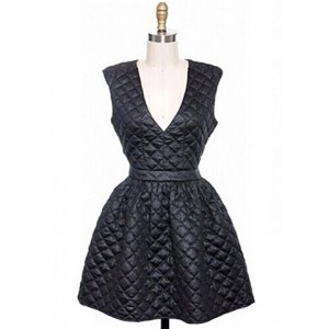 Stylish Women's Plunging Neckline Sleeveless Plaid Dress black
