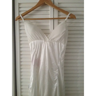 White Rope Maxi dress with padded top