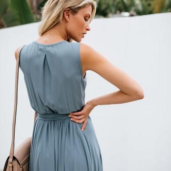 Sexy women Strap Maxi Dress V Neck Backless Chiffon Bandage beach Party Dress elegant Summer boho long dress vestidos 2020 new