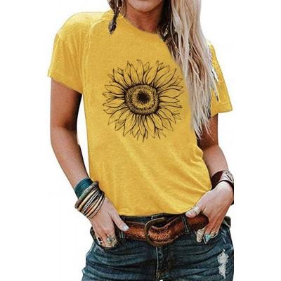 Yellow Sunflower Base T-shirt
