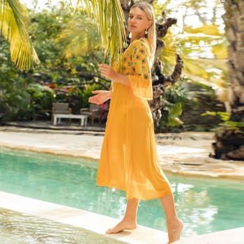 One Piece Suit 2020 New Summer Beach Skirt Dress Swimsuit Beach Bikini Cover Up Women Swimwear Beachwear Print Floral Wrap Skirt