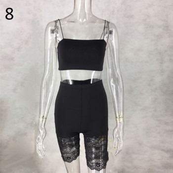 Sexy Hollow out Women Spaghetti Strap Lace Overall Jumpsuit Romper Playsuit Sexy Sleeveless Bodycon Short Romper Playsuit