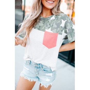 Starred In Camo Pocket Tee