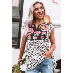 Wild Flower Embroidered Shift Top
