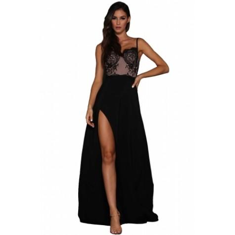 Illusion Top Evening Dresses