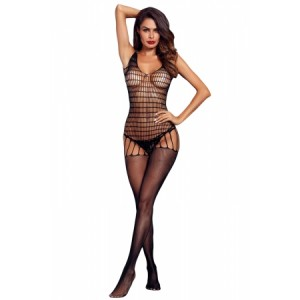Black See-through Mesh Body Stocking