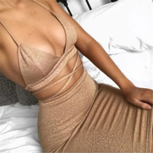 Sexy Women Summer Dress Clothes Sets Hollow Out Bandage Crop Tops +Mini Skirts Sexy Ladies Evening Party Clothes