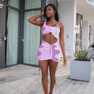 ANJAMANOR Sexy Mesh Two Piece Set Women Mini Skirts Night Club Beach Vacation Outfits Summer 2 Piece Dress Short Suits D85-BH11