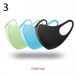 3Pc Sponge Mouth Mask Washable Dustproof Reusable anti-pollen Face Mask Adult Kid for Child Kids Health Anti-PM2.5